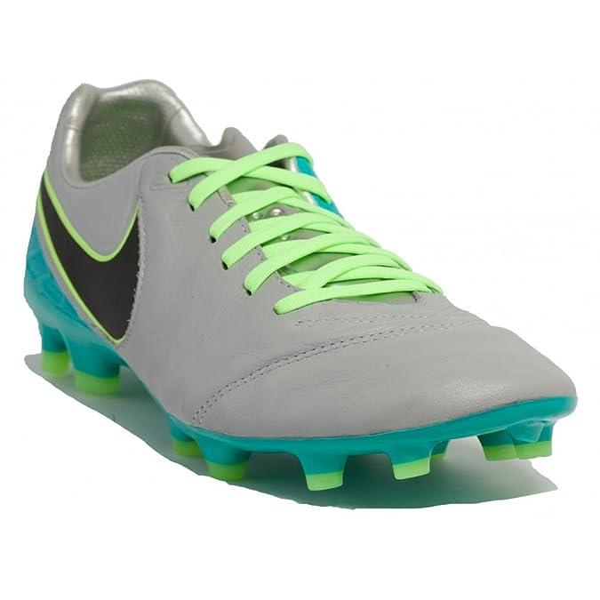 Nike Tiempo Legacy II FG, Botas de Fútbol Hombre, Gris (Wolf Grey/Black-Clear Jade), 46