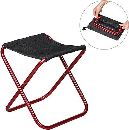 Tabouret Chaise De P/êche en Aluminium Portable Pliable Ultra L/éger Loisirs De Plein Air Rangement Sauvage GHH Tabouret Camping