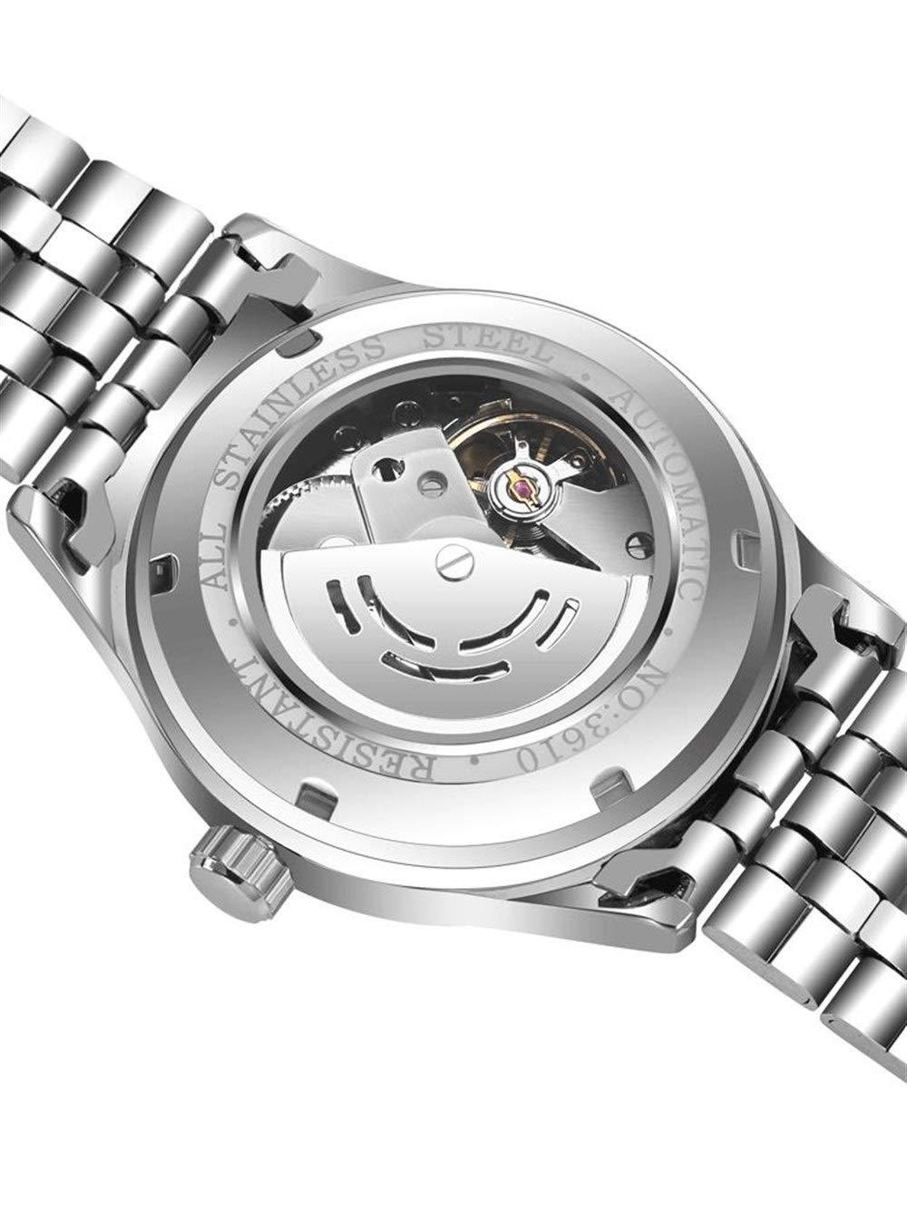 Wyx klocka män, automatisk ihåligt mekaniskt vattentätt stålbälte, trend student lysande (silver) WTR b