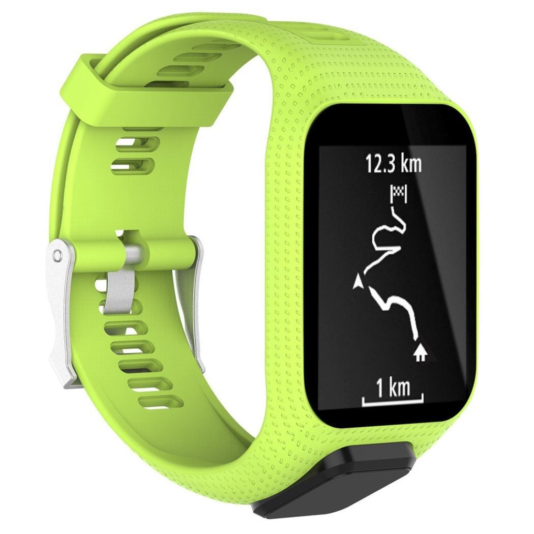 Correa de reemplazo Cooljun de silicona para TomTom Spark/3 Sport Watch, verde