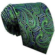 Shlax & Wing Men's Neckties Ties Paisley Green Purple Accessories For Men Long