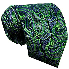 Shlax & Wing Men's Neckties Ties Paisley Green Purple Accessories For Men Long
