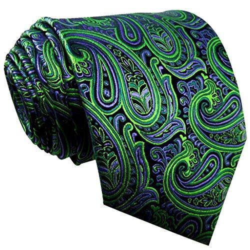 Shlax & Wing Men's Neckties Ties Paisley Green Purple Accessories