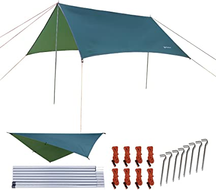 NATUREFUN Multifuncional 3x3m Impermeable Ante Lluvia para ...