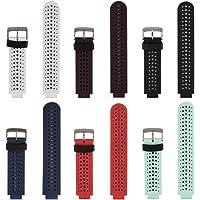 For Garmin Forerunner 235 Watch Band HONECUMI Replacement Silicone Watch Band Strap for Garmin Forerunner 235/ 220 / 230 / 620 / 630 / 735 Smart Watch(6Pack)
