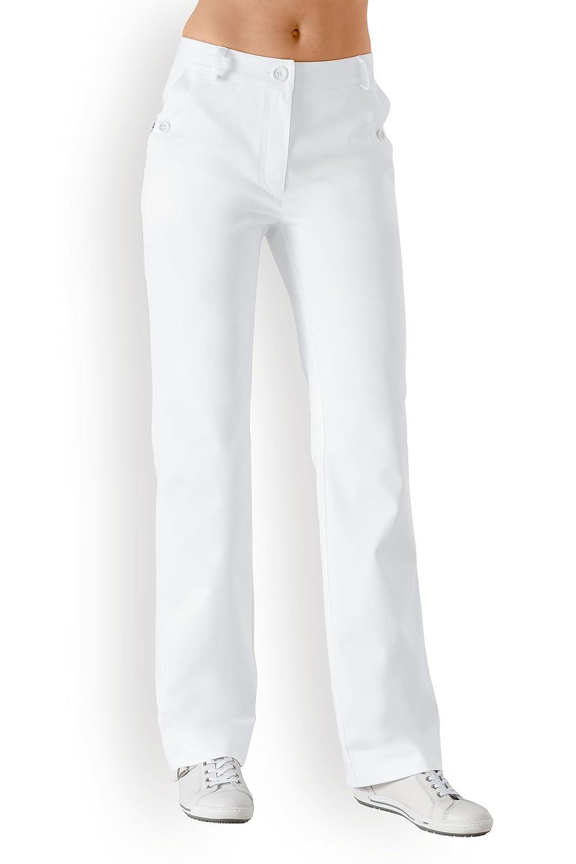 Berufshose für Damen Weites Bein Weiß