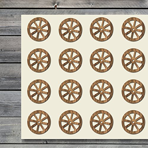 Wagon Wheel Craft Stickers, 44 Stickers at 1.5 Inches, Great Shapes for Scrapbook, Party, Seals, DIY Projects, Item 1321009 -