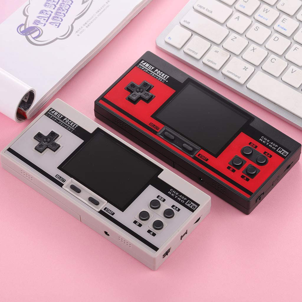 Basde Retro Handheld Classic Game Console, Mini Retro Handheld Game Console Portable Video Console Built-in 638 Classic FC Game Support 2 Player TV Output (White) by Basde (Image #5)
