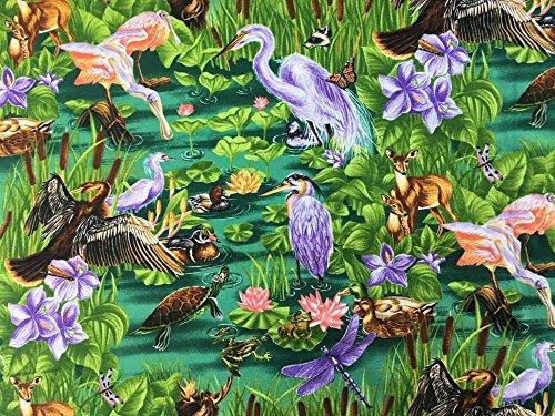- Wetlands Marshland Marsh Swampland Lowland Everglade Swamp Bog Wildlife Marine Natural Habitat Animals Handcrafted Curtain Valance