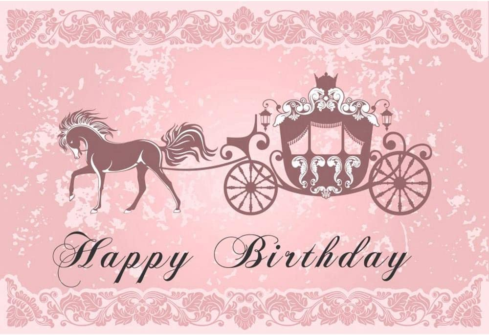 Cartoon Fairy Tale Princess Birthday Party Background Wall Royal Carriage Photo Background Photography Bath Background Decoration Can Be Customized