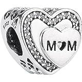 Pandora 潘多拉 丹麦品牌 母亲节礼物给妈妈的爱心925银串珠配饰 792070CZ