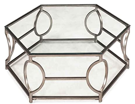 Amazon Com Nevelson Hexagonal Cocktail Table Kitchen Dining