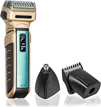 All In One Pantalla afeitadora recortador de Multi y contornos Schneider en un dispositivo – Maquinilla de Afeitar eléctrica de afeitar afeitadora eléctrica con pelo nariz y orejas de pelo recortador: Amazon.es: