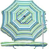 Best Beach Chair Umbrellas - Snail Beach Umbrella, 7 ft Sand Anchor Review