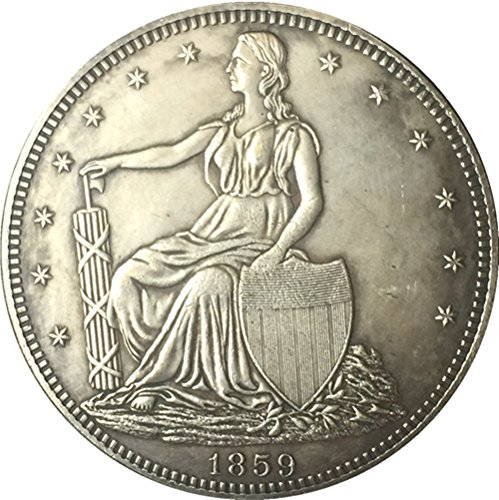 Rare Antique United States 1859 Year Seated Liberty Silver Color Half Dollar Coin (Liberty Dollar Coin Seated)