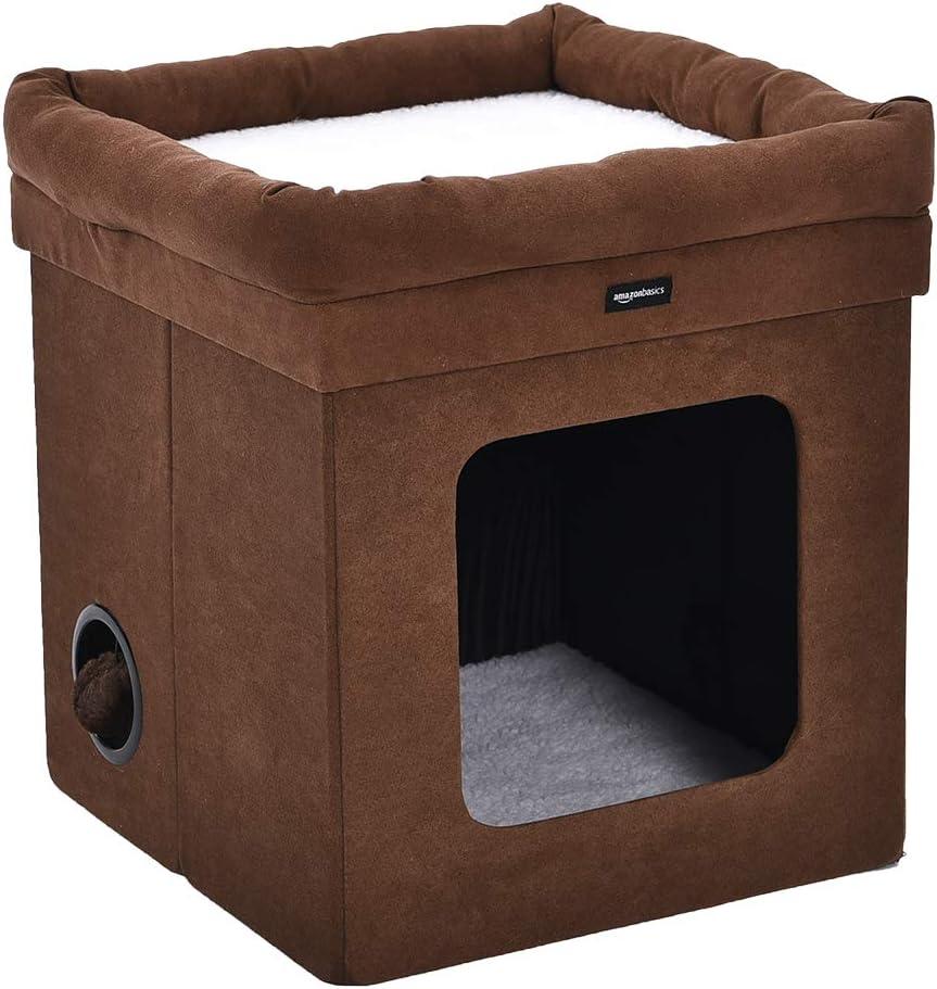 Amazon.com: AmazonBasics - Casa plegable para gato: Mascotas