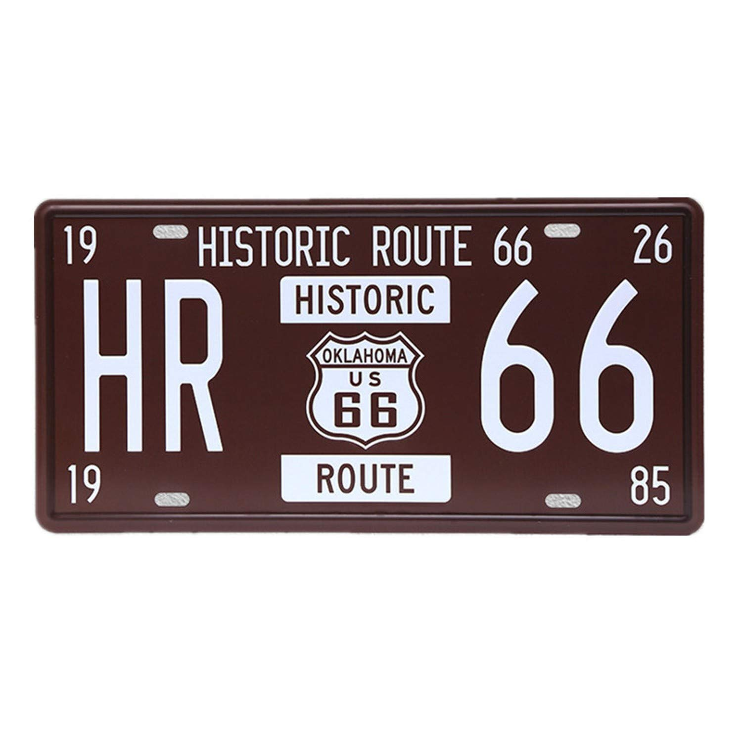 Amazon.com: Chitop USA Vintage Metal Tin Signs Route 66 Car Number License Plate Plaque Poster - Bar Club Wall Garage Home Decoration (15x30cm) (2): Home & ...