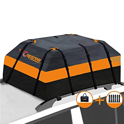 Copsrew 20 Cubic ft Car Roof Bag & Rooftop Cargo Carrier 100% Waterproof Heavy Duty RoofBag. Fits All Vehicle with/Without Rack. 4+2 Door Hooks Included: Sports & Outdoors [5Bkhe1403473]