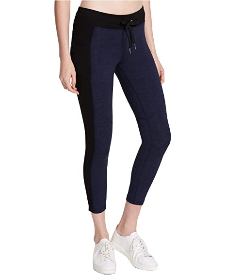 3de9f86e064d4 Amazon.com : Calvin Klein Performance Womens Heathered Cropped Athletic  Leggings Navy M : Sports & Outdoors