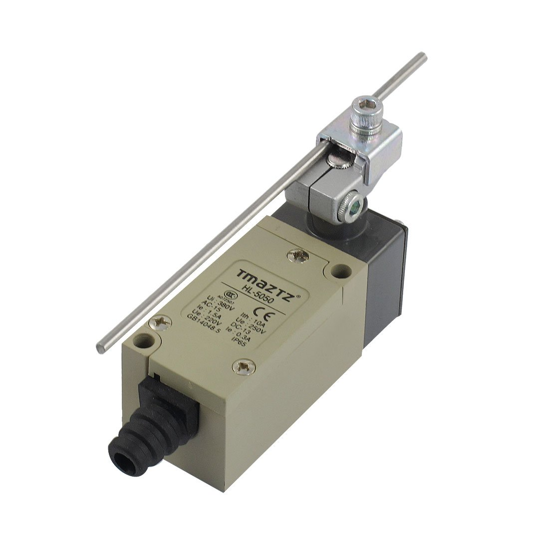 uxcell HL-5050 Rotary Adjustable Lever Arm Momentary Limit Switch 380V 10A