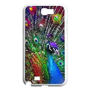 GRTT Gorgeous Samsung Galaxy Note 2 N7100 case Peacock Customized Bumper Plastic Hard Case RT727545
