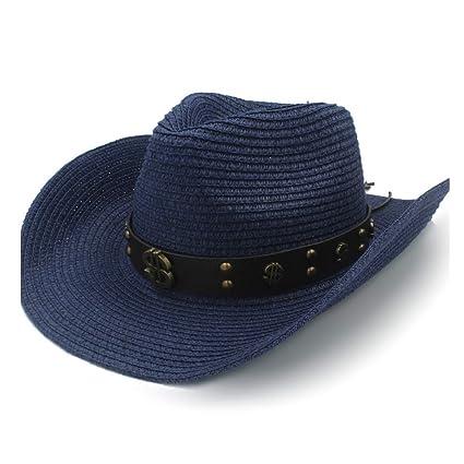9cd1b2b34 YUWEN 2019 Fashion Unisex Cowboy Sun Hat Raffia Hat Summer Ladies ...