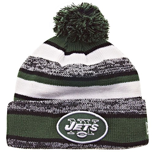New Era On field Sport Knit New York Jets Game Hat Green/Black/White Size One Size - New York Jets Knit Hat