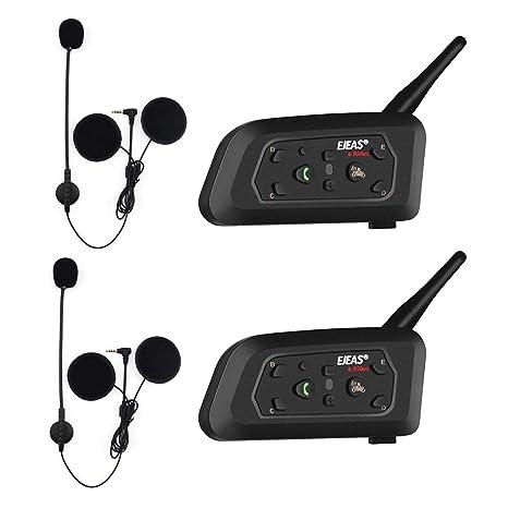 EJEAS V6 Pro BT Interphone 1200M Bluetooth Motocicleta Motocicleta Casco Intercom Auriculares con Interfono Duplex Control