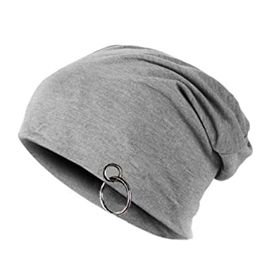 68aac42ab65 Gajraj Charcoal Grey Slouchy Beanie With Ring available at Amazon for Rs.179