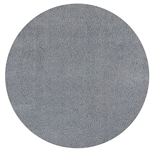 Kas Rugs 1557 Bliss Round Area Rug, 6-Feet, Grey ()