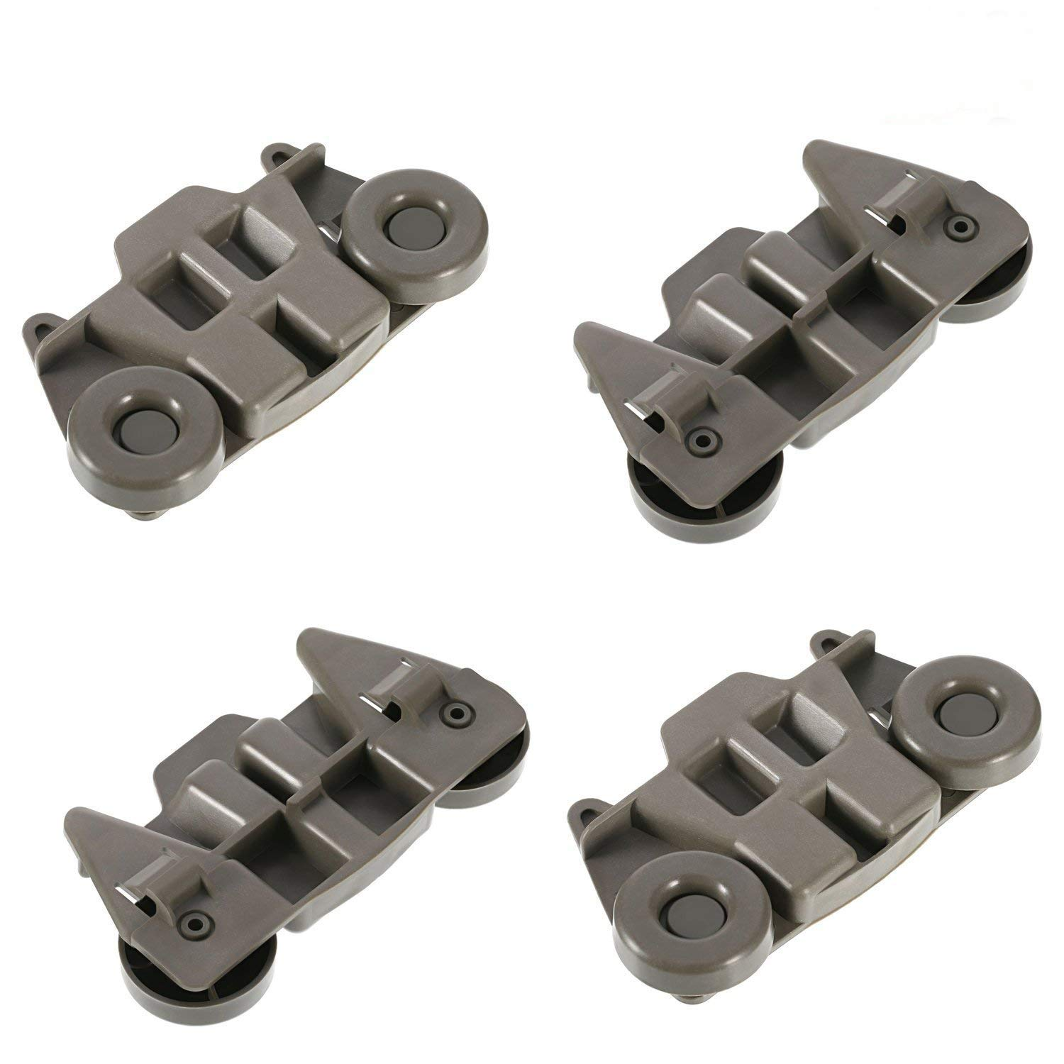 Pack of 4 W10195416 Lower Dishwasher Wheel Replacement by Tworiver, Exact Fits for Whirlpool & Kenmore Dish Rack, Replaces AP5983730, PS11722152, W10195416VP