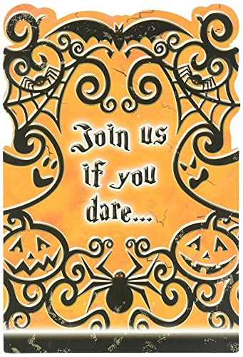 Amscan Halloween Party Card Invitation | 16 Count