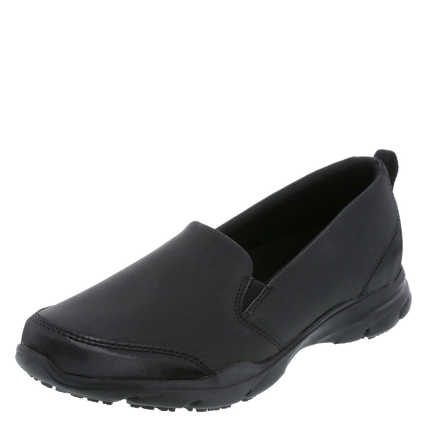 safeTstep Slip Resistant Women's Black Women's Camina Slip-On 9.5 Regular