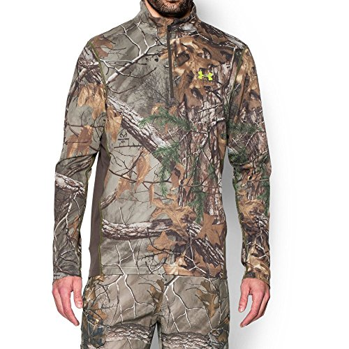 Under Armour Men's Tech Scent Control  1/4 Zip, Realtree Ap-Xtra /Velocity, Medium (Under Armour Realtree Camo Shirt)