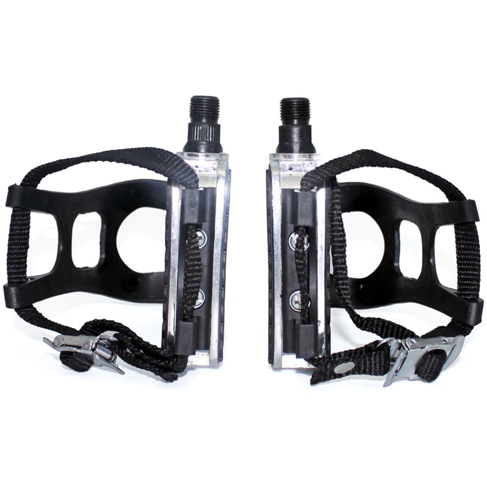 DRBIKE 9/16'' Bike Pedals with Strap for Exercise Bike, Spin Bike, Pedals with Strap, by DRBIKE (Image #2)