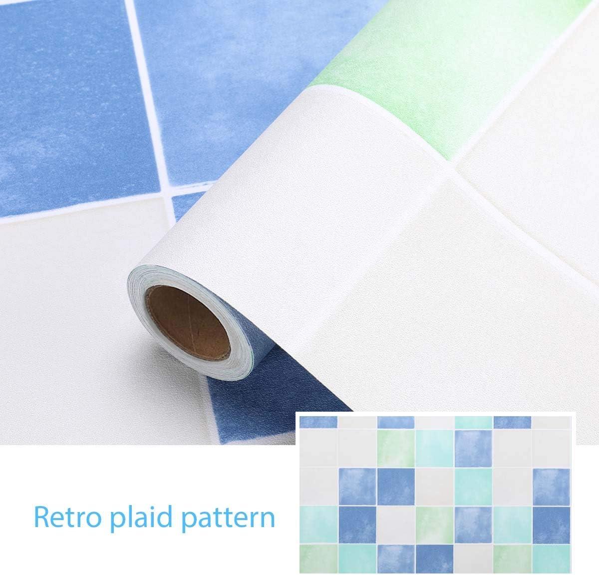 5M iKINLO K/üchenr/ückwand Folie Selbstklebende Fliese Klebefolie Tile Style Folie PVC Tapete Fliesenaufkleber f/ür K/üchen B/ädern Wand Dekorfolie 0.61