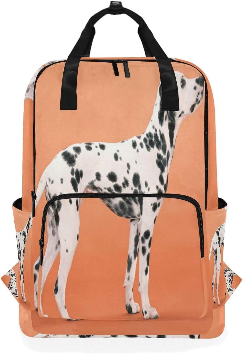 Laptop Backpacks College School Bookbag Travel Hiking Camping Daypack for Women Men Holds 14-inch Laptop Dalmatian 10.5x5.5x15