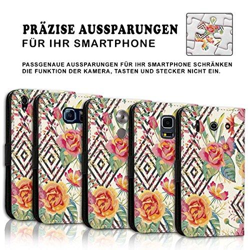 Wallet Book Style Flip Handy Tasche Case Schutz Hülle Schale Motiv Etui für Apple iPhone 4 / 4S - Design Flip MVD121
