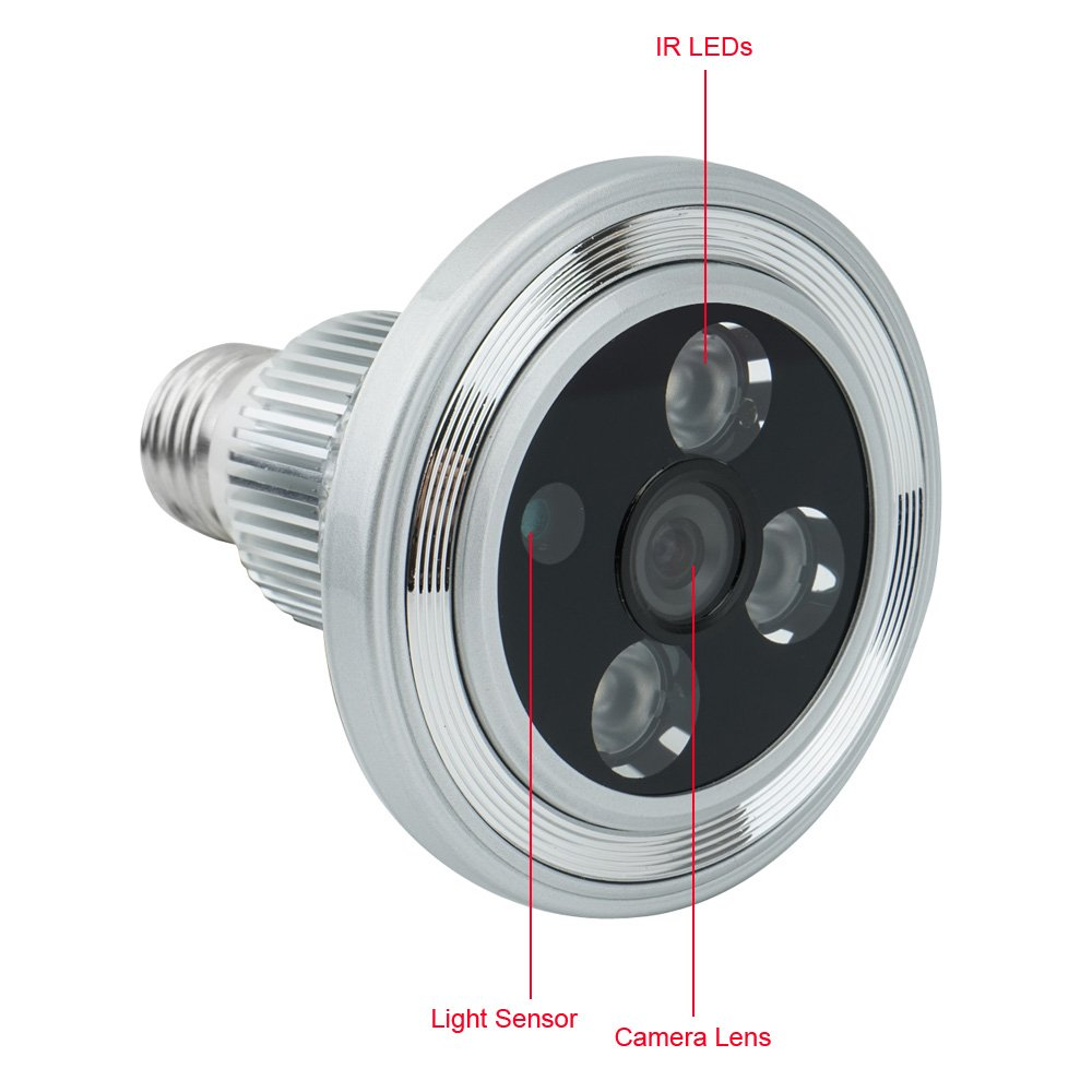 Ampoule avec caméra de surveillance Tekmagic MT-BC300