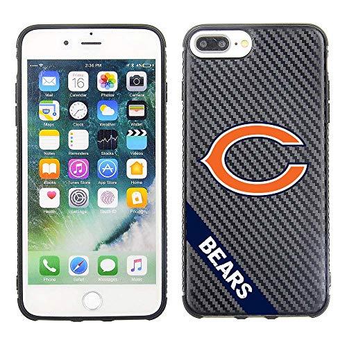 Prime Brands Group Cell Phone Case for Apple iPhone 8 Plus/ 7 Plus/ 6S Plus/ 6 Plus - NFL Licensed Chicago Bears - Black Carbon