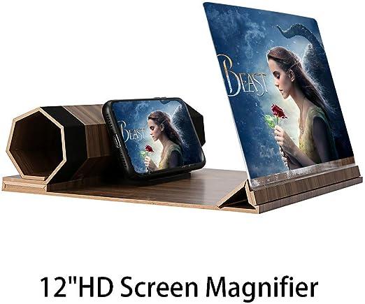 DZJ Phone Screen Magnifier-12 HD 3D Smartphone Lupa Soporte ...