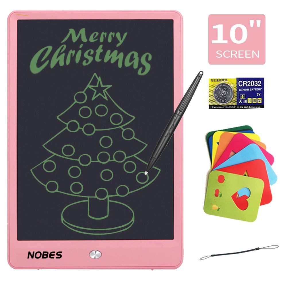 NOBES Tableta de Escritura LCD 10 Inch, LCD Tablero de Dibujo Gráfica, Pizarra Magica para niños, Juguetes Educativo, Mensaje Doodle Pad Electrónico, ...