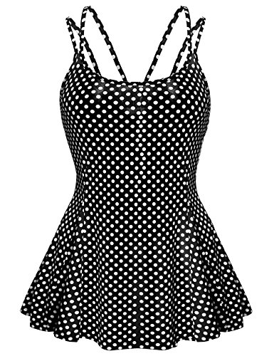 Meaneor Women's Casual Strap Sleeveless  - Polka Dot Tank Top Shirt Shopping Results