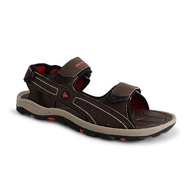 Damen Schuhe Sandalen Leder Klettverschluszlig;41 EUSchwarz