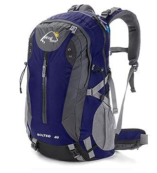Unisex adultos Nylon impermeable senderismo Mochila Mochila montañismo/Camping/(40 litros) Azul azul: Amazon.es: Deportes y aire libre