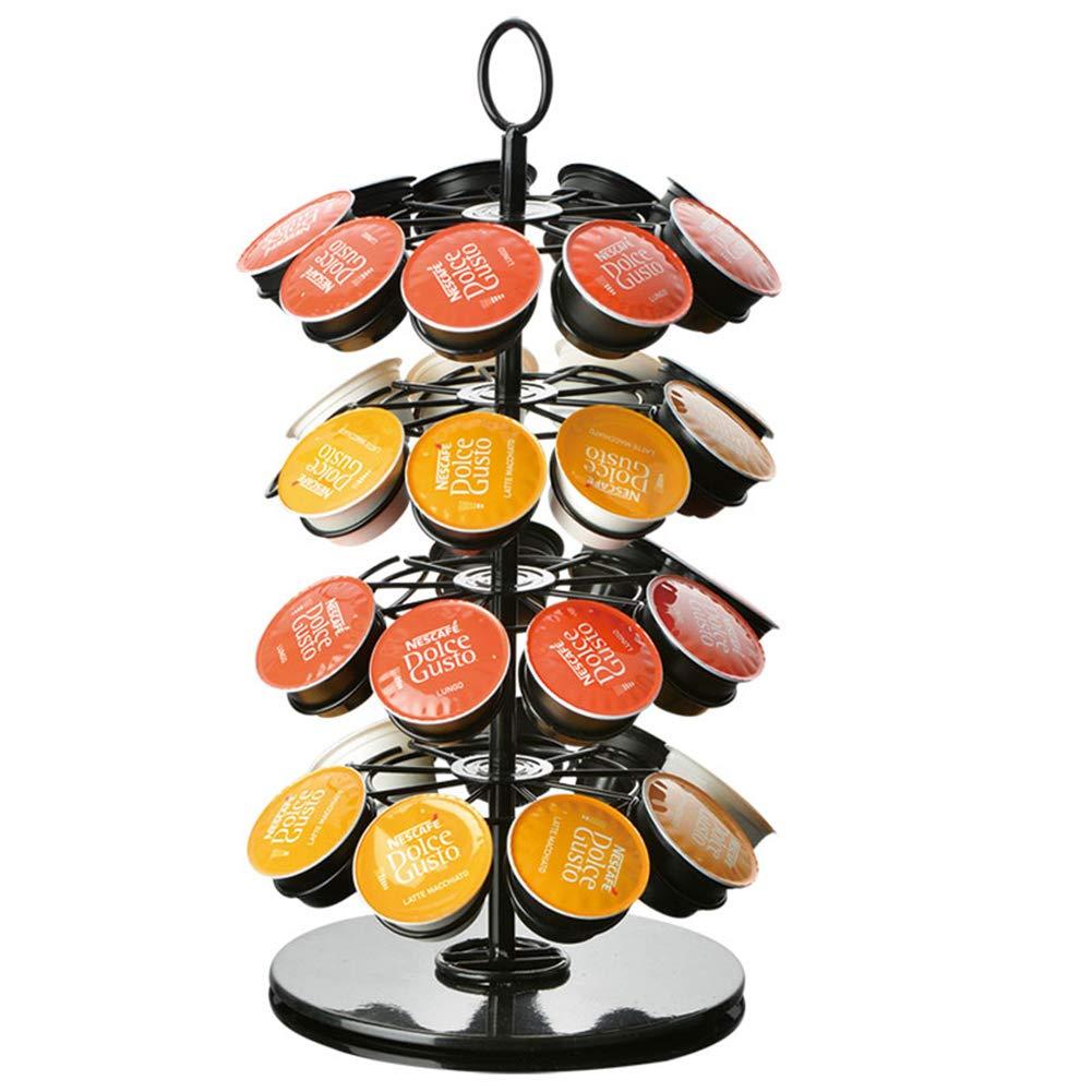 Portacapsule Girevole per cialde di caff/è 11.5x11.5x33cm Can Store 18 Ocamo