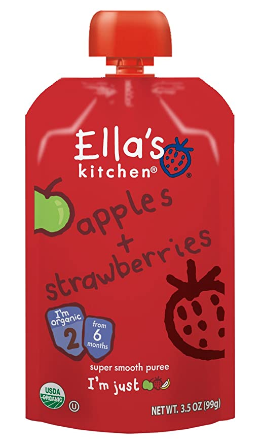 buy ella s kitchen organic stage 2 apples strawberries 3 5 ounce rh amazon in