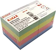 Bloco Adesivo Stick On-It 40 x 50mm 100 Folhas, Eagle, 653-8P 51.6800, Multicor, pacote de 8