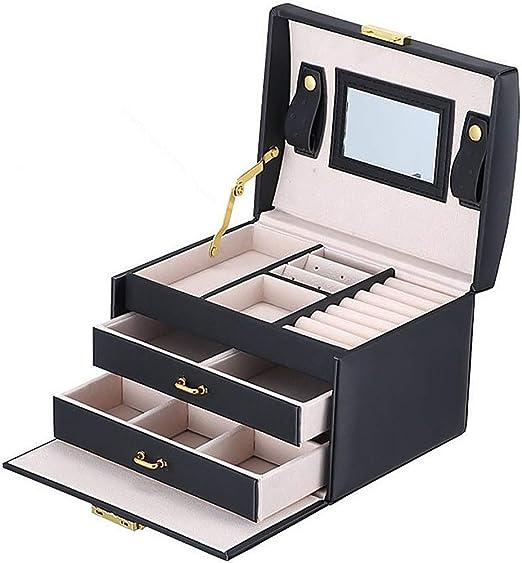BalladHome Caja Joyero con Espejo Caja para Joyas joyero Caja de ...