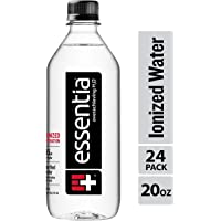Essentia Water; 20-oz. Bottles; Ionized Alkaline Bottled Water; Electrolyte Infused for Smooth Taste; pH 9.5 or Higher; 99.9-Percent Pure